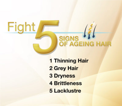 Fight 5 signs of ageing hair
