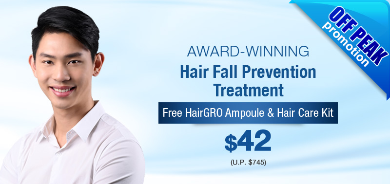 Award winning hair fall prevention treatment - Off Peak Promo